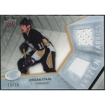 2008/09 Upper Deck Ice Frozen Fabrics Black Parallel #FFST Jordan Staal /25