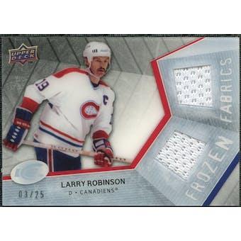 2008/09 Upper Deck Ice Frozen Fabrics Black Parallel #FFLR Larry Robinson /25