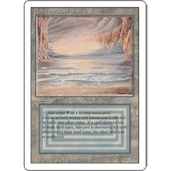 Magic the Gathering 3rd Ed (Revised) Single Underground Sea - DAMAGED (DMG)