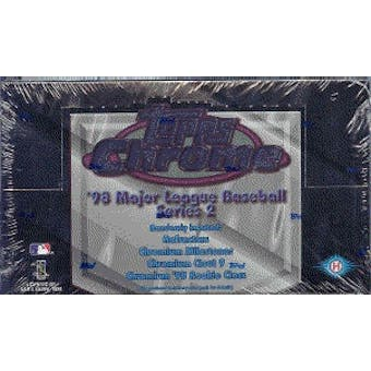 1998 Topps Chrome Series 2 Baseball Hobby Box