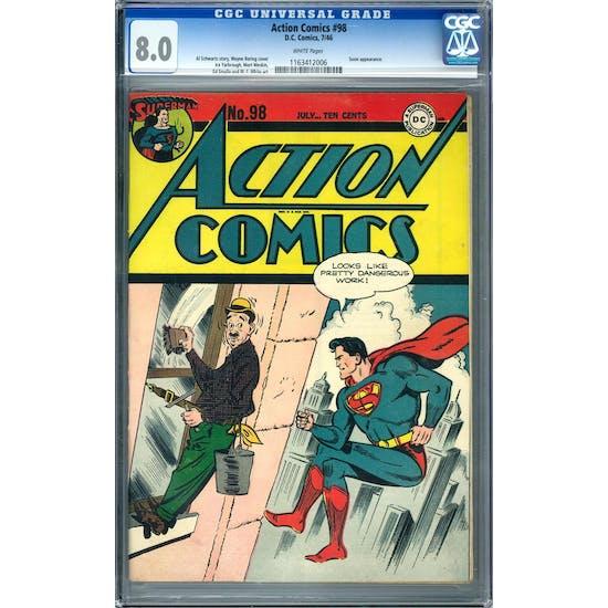 Action Comics #98 CGC 8.0 (W) *1163412006*