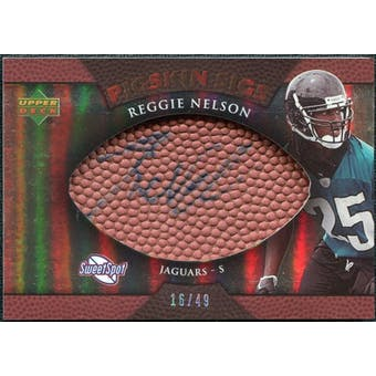 2007 Upper Deck Sweet Spot Pigskin Signatures Bronze #RN Reggie Nelson /49