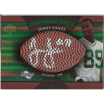 2007 Upper Deck Sweet Spot Pigskin Signatures Green #JO James Jones /50