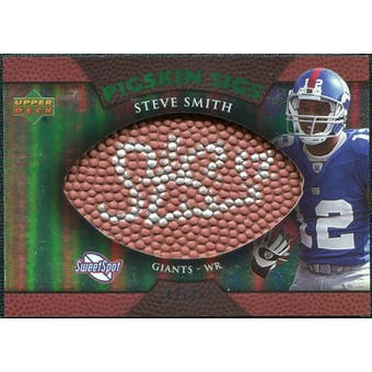 2007 Upper Deck Sweet Spot Pigskin Signatures Green #SS Steve Smith /75