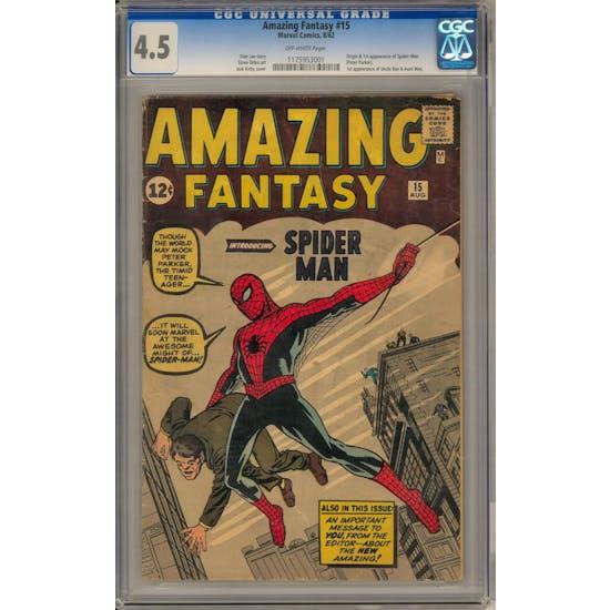 Amazing Fantasy #15 CGC 4.5 (OW) *1175953001*