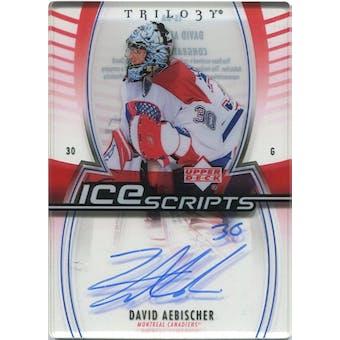 2006/07 Upper Deck Trilogy Ice Scripts #ISDA David Aebischer Autograph