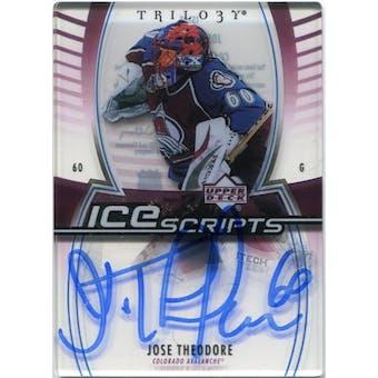 2006/07 Upper Deck Trilogy Ice Scripts #ISJT Jose Theodore Autograph