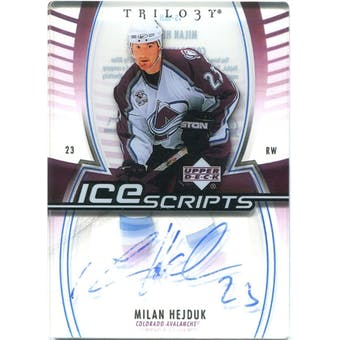2006/07 Upper Deck Trilogy Ice Scripts #ISMH Milan Hejduk Autograph