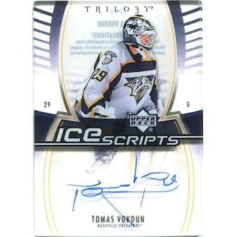 2006/07 Upper Deck Trilogy Ice Scripts #ISVO Tomas Vokoun Autograph
