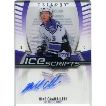 2006/07 Upper Deck Trilogy Ice Scripts #ISMC Mike Cammalleri Autograph