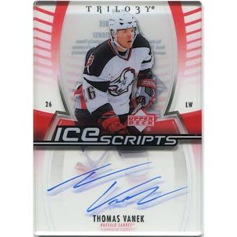 2006/07 Upper Deck Trilogy Ice Scripts #ISTV Thomas Vanek Autograph