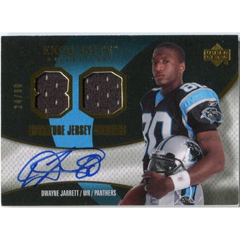 2007 Upper Deck Exquisite Collection Signature Jersey Numbers #DW Dwayne Jarrett Autograph /80