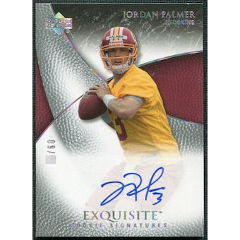 2007 Upper Deck Exquisite Collection Gold #85 Jordan Palmer RC Autograph /60