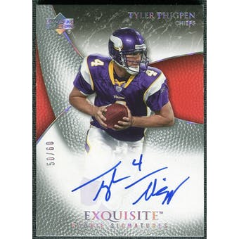 2007 Upper Deck Exquisite Collection Gold #101 Tyler Thigpen Autograph /60