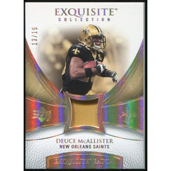 2007 Upper Deck Exquisite Collection Patch Spectrum #DE Deuce McAllister 13/15
