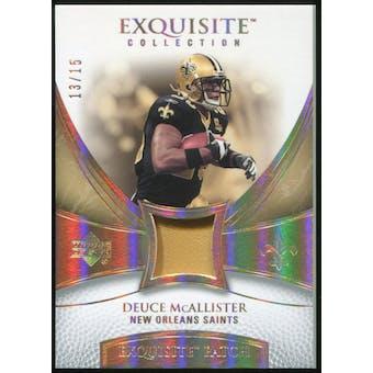 2007 Upper Deck Exquisite Collection Patch Spectrum #DE Deuce McAllister 13/15