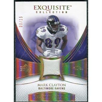 2007 Upper Deck Exquisite Collection Patch Spectrum #CL Mark Clayton /15