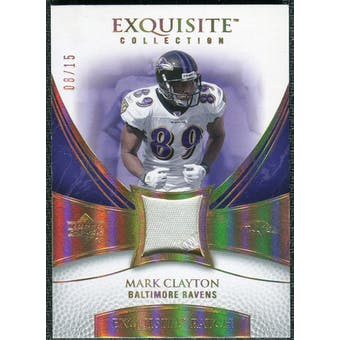 2007 Upper Deck Exquisite Collection Patch Spectrum #CL Mark Clayton /15