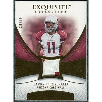 2007 Upper Deck Exquisite Collection Patch Gold #LF Larry Fitzgerald 39/50