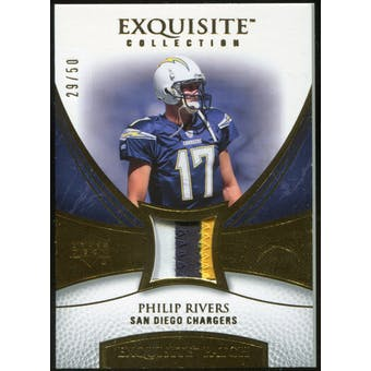 2007 Upper Deck Exquisite Collection Patch Gold #PR Philip Rivers 29/50