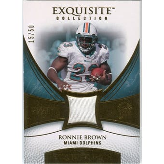 2007 Upper Deck Exquisite Collection Patch Gold #RO Ronnie Brown 15/50