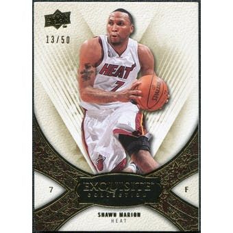 2008/09 Upper Deck Exquisite Collection Gold #26 Shawn Marion /50