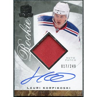 2008/09 Upper Deck The Cup #122 Lauri Korpikoski Rookie Patch Auto /249