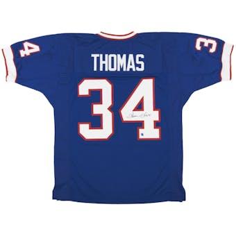 Thurman Thomas Autographed Buffalo Bills Blue Football Jersey