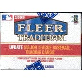 1999 Fleer Tradition Update Baseball Factory Set (box)