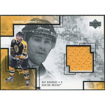 2000/01 Upper Deck UD Pros and Prospects Game Jerseys #RB Ray Bourque