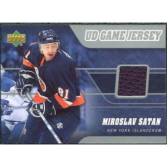2006/07 Upper Deck Game Jerseys #J2SA Miroslav Satan