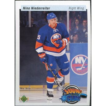 2010/11 Upper Deck 20th Anniversary Variation #482 Nino Niederreiter YG RC