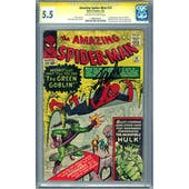 Amazing Spider-Man #14 CGC 5.5 (OW-W) Stan Lee Signature Series *1198340001*