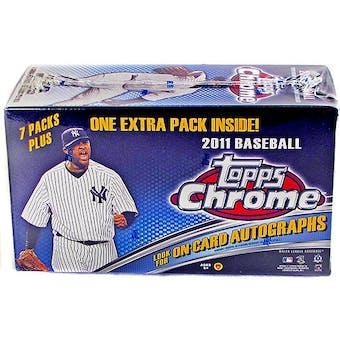 2011 Topps Chrome Baseball 8-Pack Blaster Box