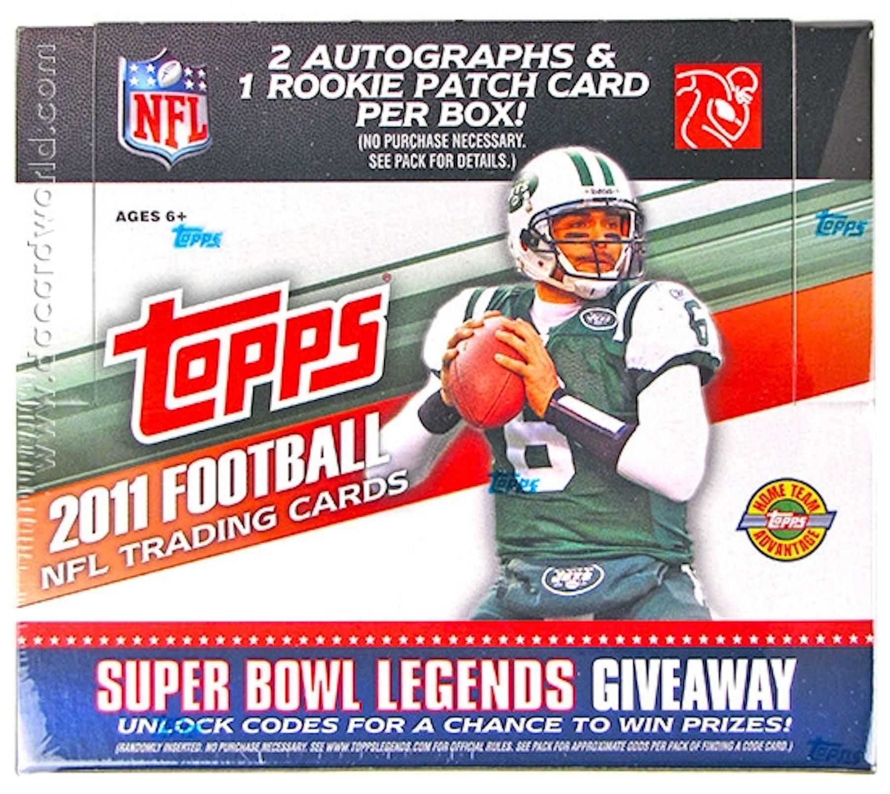 2011 Topps Football Jumbo Box Da Card World
