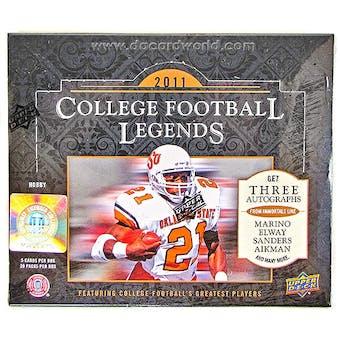 2011 Upper Deck College Football Legends Hobby Box
