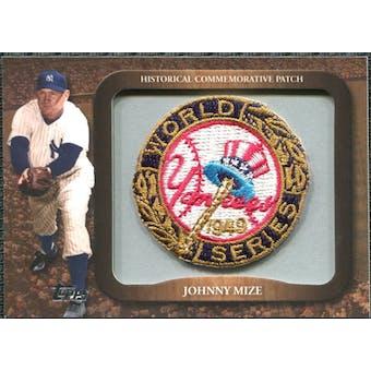 2009 Topps Legends Commemorative Patch #LPR110 Johnny Mize