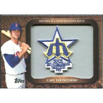 2009 Topps Legends Commemorative Patch #LPR140 Carl Yastrzemski