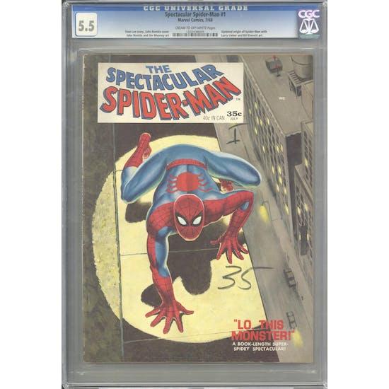 Spectacular Spider-Man #1 CGC 5.5 (C-OW) *1202038005*