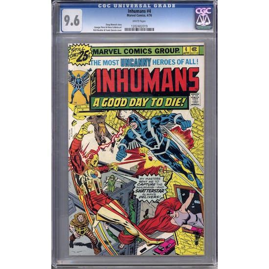 Inhumans #4 CGC 9.6 (W) *1202402019*