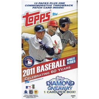 2011 Topps Update Baseball 10-Pack Blaster Box