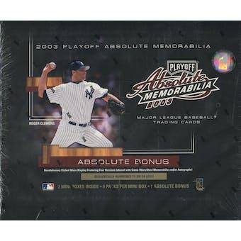 2003 Playoff Absolute Memorabilia Baseball Hobby Box