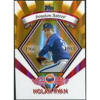 2009 Topps Legends Chrome Target Cereal Gold Refractors #GR16 Nolan Ryan