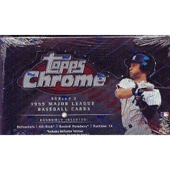 1999 Topps Chrome Series 2 Baseball Hobby Box