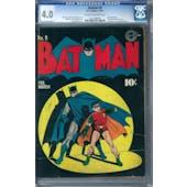 Batman #9 CGC 4.0 (C-OW) *1211336003*