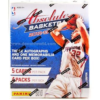 2012/13 Panini Absolute Basketball Hobby Box