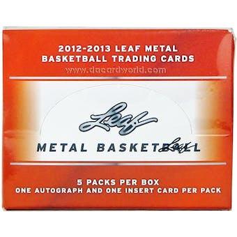 2012/13 Leaf Metal Basketball Hobby Box