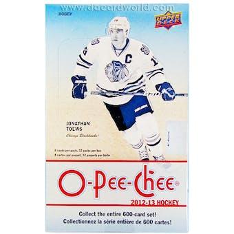 2012/13 Upper Deck O-Pee-Chee Hockey Hobby Box
