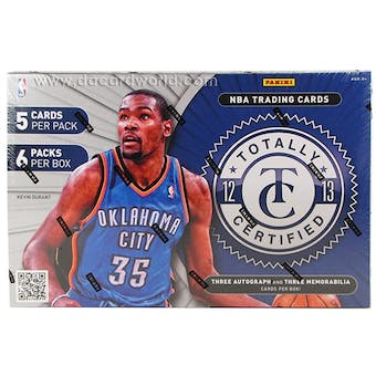 2012/13 Panini Totally Certified Basketball Hobby Box