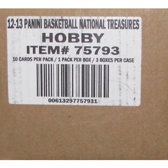 2012/13 Panini National Treasures Basketball Hobby 3-Box Case